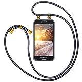 Moex - Cadena para teléfono móvil compatible con Samsung Galaxy S3/S3 Neo, funda de silicona con correa, funda transparente con cordón, intercambiable en antracita