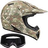 Typhoon Adult ATV Helmet & Goggles Gear Combo, Camo w/Matte Black (Medium)