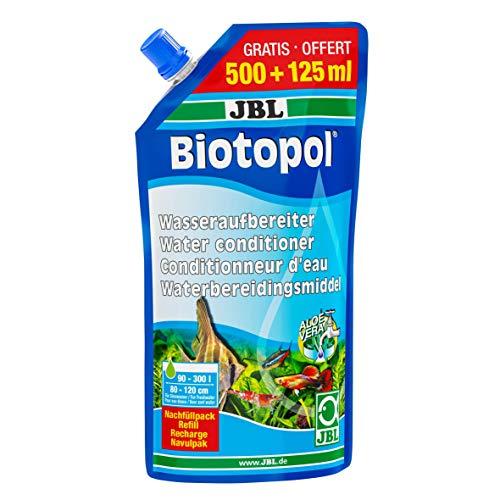 JBL Biotopol, Wasseraufbereiter für Süßwasser-Aquarien, Nachfüllpack, 500+125 ml
