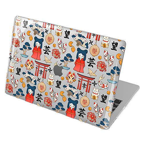 Lex Altern Hardshell Case for Apple MacBook Air 13 2020 Mac 16 2019 Pro 15 inch Retina 2018 2017 12 11 Plastic Laptop Origami Mask Kokeshi Dolls Protective Touch Bar Koi Cover Cute Japanese mch026