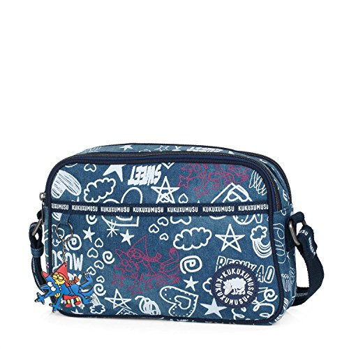 KUKUXUMUSU - Bolso de Mujer pequeño con Bandolera. Doble Compartimento....