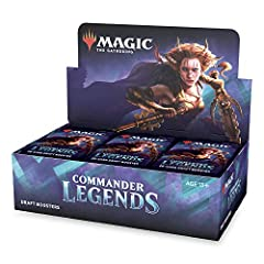 COMMANDER DRAFT IS HERE. Draft with the first ever booster packs designed for Commander—a Magic format all about battling your friends in epic multiplayer games. 24 DRAFT BOOSTERS. Grab 3 packs, pick 2 cards at a time, and add in some lands for a 60-...