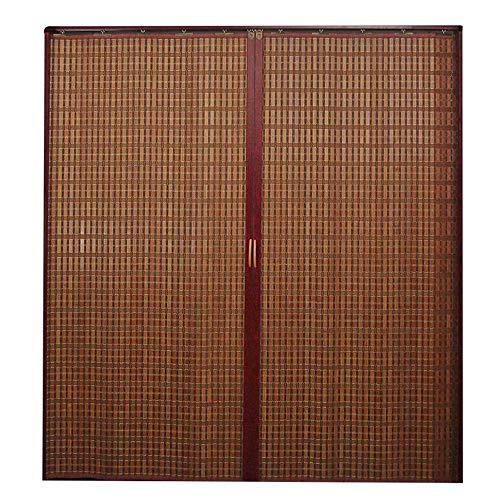 Jcnfa-Persianas Cortina De Bambú Plegable Puerta Corredera, Cortar La Cortina Decoración De La Sala De Estar, Empujar Y Tirar hacia La Izquierda Y hacia La Derecha, Inicio/Cocina/Tienda