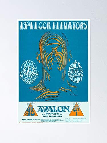 AZSTEEL 13th Floor Elevators Gig Poster Poster