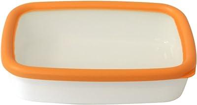 富士ホーロー 保存容器 浅型角容器 オランジェ M オレンジ OG-M