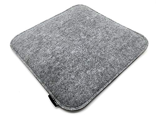 Welaxy Felt seat Cushion for Eames Chair DSW Pads Minimalist for Office Indoor Home Dining Kitchen (Square) (Grey+ Charcoal)