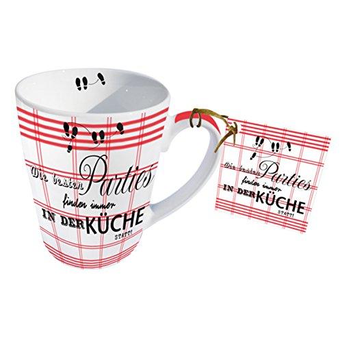 PPD Tasse en Porcelaine pour Lait, Café, Thé – Tasse pour Petit Déjeuner 'Parties' 0,25l.