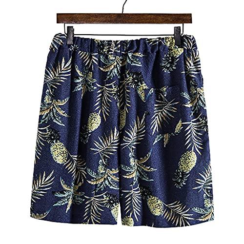 Pantalones Cortos Hombre Verano con Estampado Shorts de Playa Casual para Hombre Pantalon Corto Hombre con Cordón Ajustables Shorts Hombre Verano Suelta Transpirables Pantalones Hombre