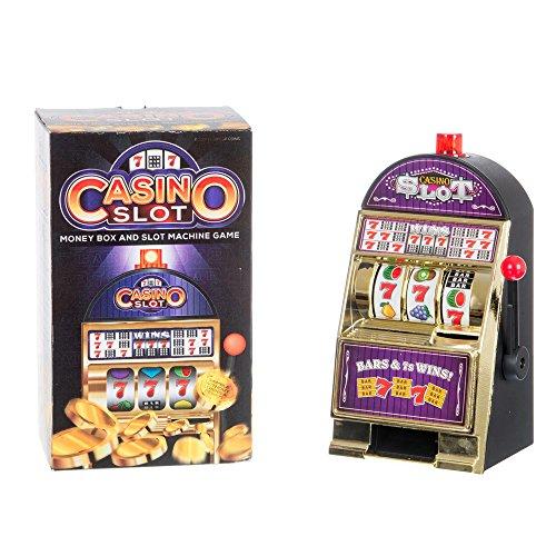 Funtime Caja de Ahorro de Dinero para Dinero, Ranura de Casino, máquina de Banco de Cerdito electrónico.