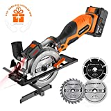 EnerTwist 20V Max 4-1/2' Cordless Circular Saw with 4.0Ah Lithium Battery and Charger,...