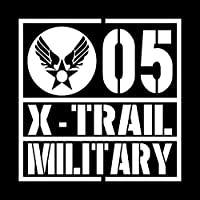 ミリタリー X-TRAIL エクストレイル カッティング ステッカー ホワイト 白