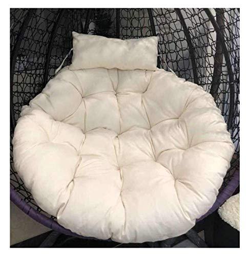 Home Decoration Swing Chair Cushion Hanging Egg Hammock Chair Cushion Swing Seat Cushion Round Basket Hanging Chair Panel with Pillow Non-Slip Patio Mat Cushion Without Chair Hanging Basket Furniture