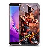 Head Case Designs Oficial Anne Stokes Disparar Edad de los Dragones Carcasa rígida Compatible con Samsung Galaxy J6 Plus (2018)