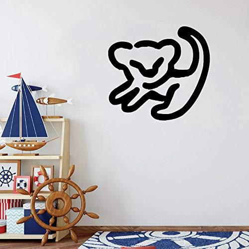 wangpdp Roi Lion Simba Dessin Vinyle Stickers Muraux Décoration de La Maison Accessoires pour Pépinière Enfants Garçons Filles Chambre Papier Peint 38 * 42cm
