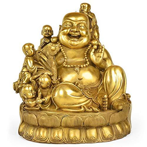 J.Mmiyi Feng Shui Laiton Statues Bouddha Rieur Maitreya Orne