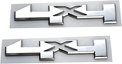 Aimoll 2pcs 4 X 4 Door Emblem Badge 4x4 Nameplate 3D Replacement for Silverado 2500HD 3500HD (Chrome)