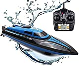 RC Boat 2.4 GHz 25 km / h 4 Canales de Alta Velocidad con Control Remoto de Alta Velocidad Barco RC Speedboat Racing Boat Modelo de