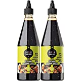 Best of Thailand Sesame Teriyaki Soy Sauce Lite | 2 Bottles of 23.63oz Low-Sodium Authentic Asian-Brewed Marinade, Glaze, Salad Dressing & Dipping Sauce, Whole Sesame Seeds | No MSG, 85% Less Sodium