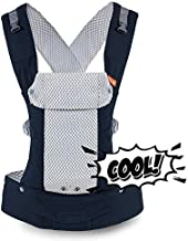 Beco Gemini Baby Carrier - Cool Mesh Navy, Sleek and Simple 5-in-1 All Position Backpack Style Sling for Holding Babies, Infants and Child from 7-35 lbs Certified Ergonomic