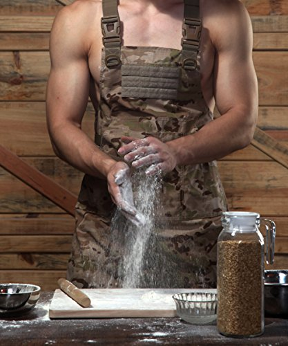 CyberDyer Male Female Tactical Working Apron with Tool Pockets Suitable for Outdoor Picnic and Daily Repair Work (Desert Camouflage)