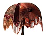 Victorian Gone with the Wind Velvet Embroidered Portobello Lamp Shade 12' X 17'