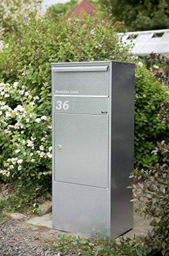 Paketbriefkasten Allux 800 in verzinkt mit Montagefuß in verzinkt