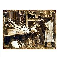 Vegetable Seller Boston ティンサイン ポスター ン サイン プレート ブリキ看板 ホーム バーために