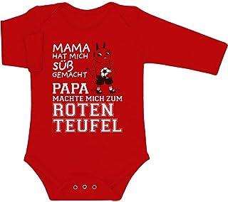 Shirtgeil Kaiserslautern - Papa machte Mich zum Roten Teufel Baby Langarm Body