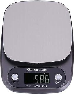 10 kg / 1g Báscula Digital para Cocina, Balanza Electrónica LCD Pocket Balanza de Cocina Peso de la Cocina Balanza para Us...
