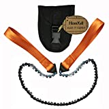 Homyall 24' Pocket Chainsaw 3X Faster with Cutting Blade ON Every Link-Best Pocket Saw for Wood Cutting Outdoor Hiking Camping Survival Gear Garden Work with Pouch- Bonus Front Snap Carrying Case
