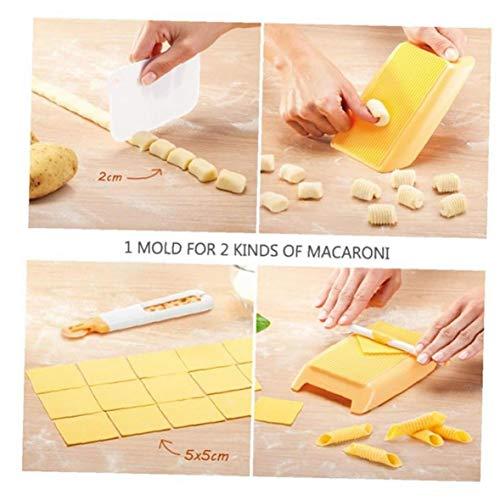Kunststoff-Nudelmaschine Makkaroni Brett Spaghetti Pasta Gnocchi-Maschine Cutter Rolling Pin-Küche-Werkzeug-Baby-Nahrungsergänzung Moulds