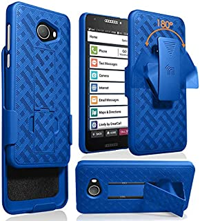 Jitterbug Smart2 Case with Clip, Nakedcellphone [Cobalt Blue] Kickstand Cover with [Rotating/Ratchet] Belt Hip Holster Combo for GreatCall Jitterbug Smart2 Phone (5049SJBS2, Smart-2)