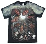 AMC The Walking Dead Zombies Under The Moon Graphic T-Shirt XL Black