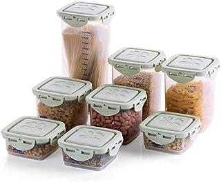 HYRGLIZI 8pcs boîte à épices à Grains Cuisine récipients de Stockage des Aliments réfrigérateur Organisateur boîte boîte d...