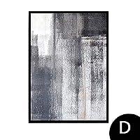 ウォールアート、油絵、ベッドルーム、ホール、リビングルームミニマル絵画の抽象絵画,D,30X40cm