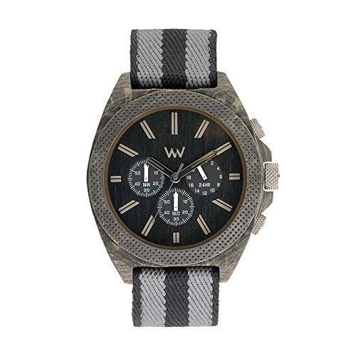 WEWOOD Herren Chronograph Quarz Smart Watch Armbanduhr mit Stoff Armband WW56001