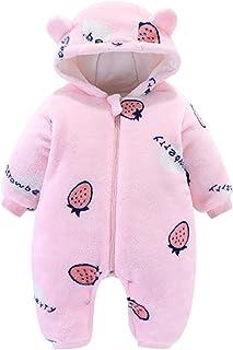 الشتاء طفل الفتيات الصبي رومبير الرضع رشاقته الملابس الكرتون مقنعين سستة بذلة ملابس الأطفال (Color : Pink, Size : 6-9 Months)