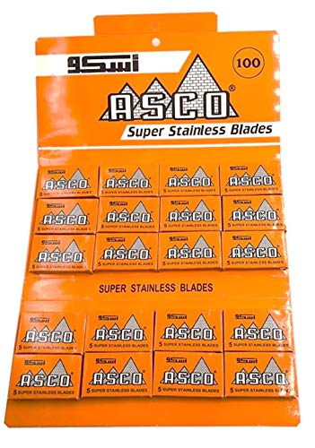 100 Lamette da barba ASCO Super Stainless