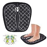 [page_title]-CY&WIN Fernbedienung EMS Fußmassage Mattenpolster, wiederaufladbares elektrisches USB-Fußsohlenmassagegerät mit EMS-Technologie für Frauen Männer (Farbe: Blackround)