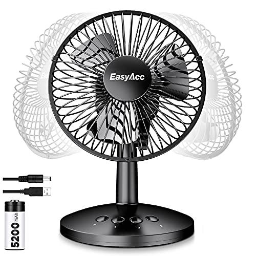 EasyAcc USB Desk Fan 3 Speeds Mini Fan Electric Automatic...