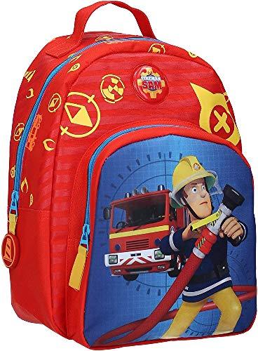 Feuerwehrmann Sam Kinderrucksack - Feuerwehrauto - Rot