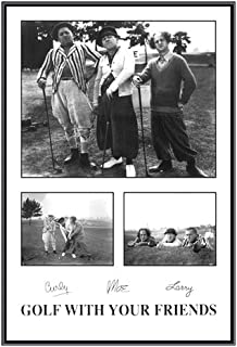golf with your friends framed poster