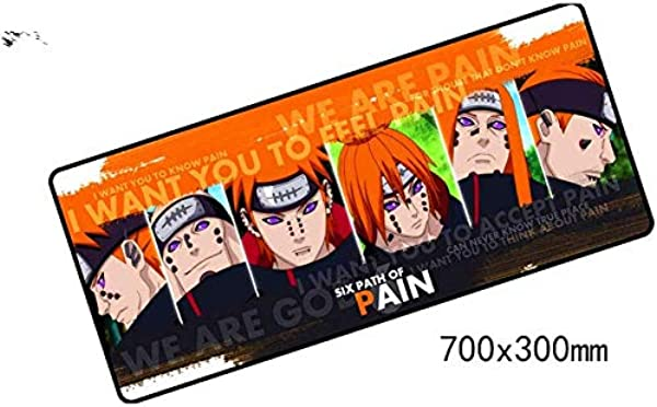 Naruto Mouse Pad 700X300X3mm Pad Mouse Notbook Computer Padmouse Domineering Gaming Mousepad Gamer To Keyboard Mouse Mats HGNMP 66