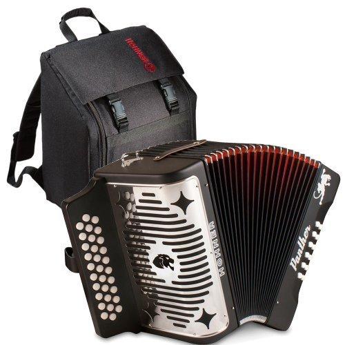 Hohner 3100FB Panther Diatonic Button Accordion in F key accordion Bundle with Accordion Gig Bag