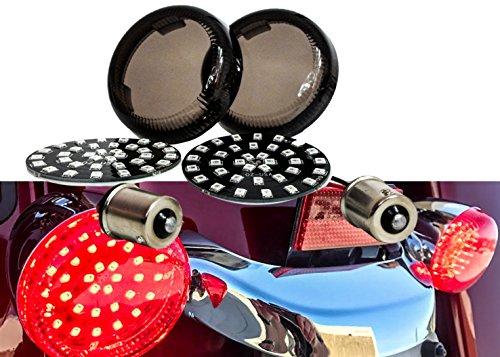 Deuce-Style Single Contact Filament LED Turn Signal Smoke Lens (1156 Bulb, Red LED)
