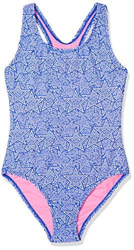 Sanetta Sanetta Mädchen Swimsuit Badeanzug, Blau (Azur 50286), 164