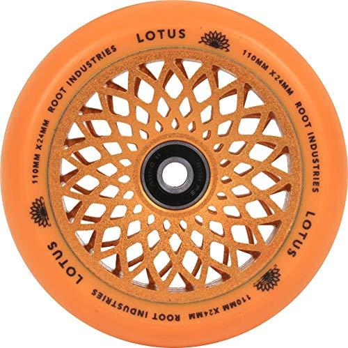 Root Industries Lotus Stunt-Scooter - Rueda para patinete (110 mm, incluye pegatinas Fantic26), color naranja