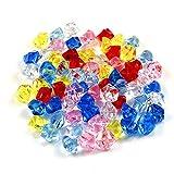 Anyasen Gemas De Plastico 150pcs Diamantes acrílico Piedras De Colores para decoración jarrones bodas decoración de mesa