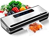 Toyuugo Vakuumiergerät für Trockene und Feuchte Lebensmittel Vakuumierer Folienschweißgerät für...