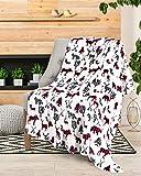 Safdie & Co. Throw Blanket Flannel Printed Ribbed Moose & Bear Baby, Multi, 50'x60' - 65903.ECZ.07